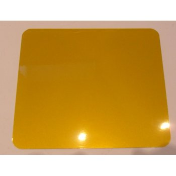 Honda Aluminum Rear Number Plate Reflective Yellow Finish 7