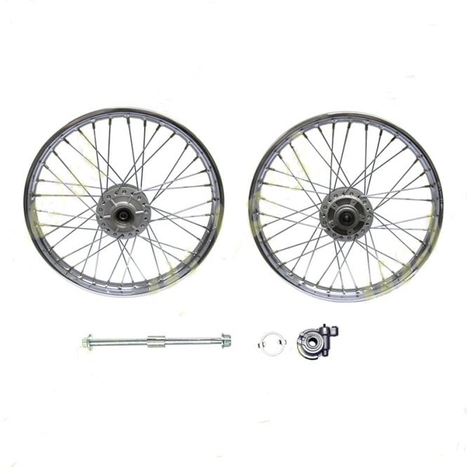 Honda CG125 Front Wheel Complete With Hub, Spindle & Speedometer Drive 1.4x18