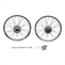 Honda CG125 Front Wheel Complete With Hub, Spindle & Speedometer Drive 1.4x18""