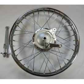 "Honda CG125 Rear Wheel Complete 1.4 x 18"" Includes Brake Plate, Spindle & Sprocket"