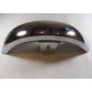 "Chrome Universal Front Mudguard With Stays 115mm Wide (4.5"")"