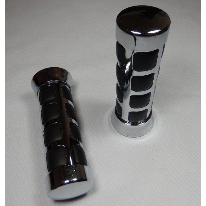 Honda Custom Handle Bar Grips Cushion Cube Chrome Finish Suitable For 25mm & 1