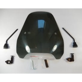 Genuine Airblade Universal Screen Black Smoked Complete With Fixing Kit