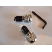 Handle Bar End Sets Polished Alloy for 22mm Bars
