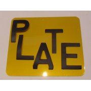 "Number Plate Digits 2.5"" Matt Black Self Adhesive"
