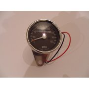 Speedometer MPH Mechanical Driven Stainless Steel Finish 65mm Face