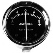"Ammeter 1 3/4"" Diameter -8-0+8 for Classic Motorcycle Suitable for 6 or 12V"