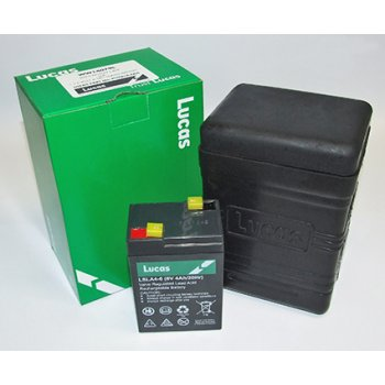 LUCAS B38-6 Battery Box (Large type) supplied with single 6V 4.5AH Sealed Battery