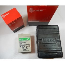 Lucas B38-6 Battery Box (Large type) supplied with single Lucas 6V 4.5AH Sealed Battery