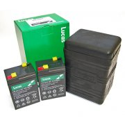 Lucas B38-6 Battery Box (Large Type) supplied with two Lucas 6V 4.5AH Sealed Batteries