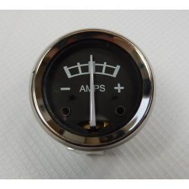 "Pre-Scale Ammeter for Classic Motorcycle 1 3/4"" Black Face Fitted to Models 1936 -68"