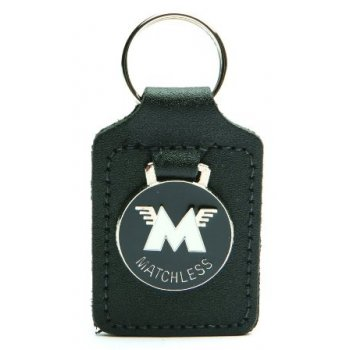 AJS / Matchless Matchless Leather Backed Key Fob With Enamel logo