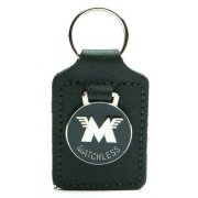 Matchless Leather Backed Key Fob With Enamel logo