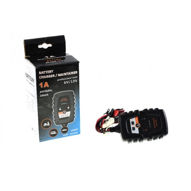 Mini Battery Charger 6 / 12 Volts 1Amp Portable Smart Charger / Battery Optimiser