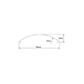 "Mudguard 4"" Wide Front Blade Raw Steel"