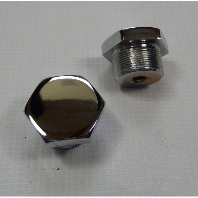 Norton Atlas Fork Top Nut Chrome Sold as a Pair OEM No 06-0345, 06-7862