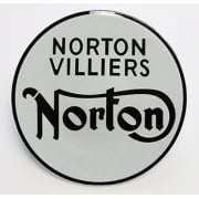 Norton Commando Fastback 750cc Tank Badges (Pair) Domed Face as Original