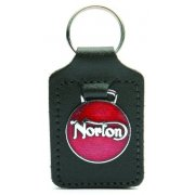 Norton Leather Backed Key Fob & Logo For Classic Motorcycle