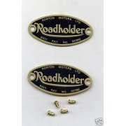 Norton Road Holder Fork Badges & Rivets (Sold as a Pair)