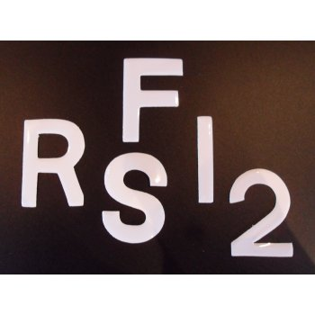"""Number Plate Digits 2.5"""" White Gloss Self Adhesive"""