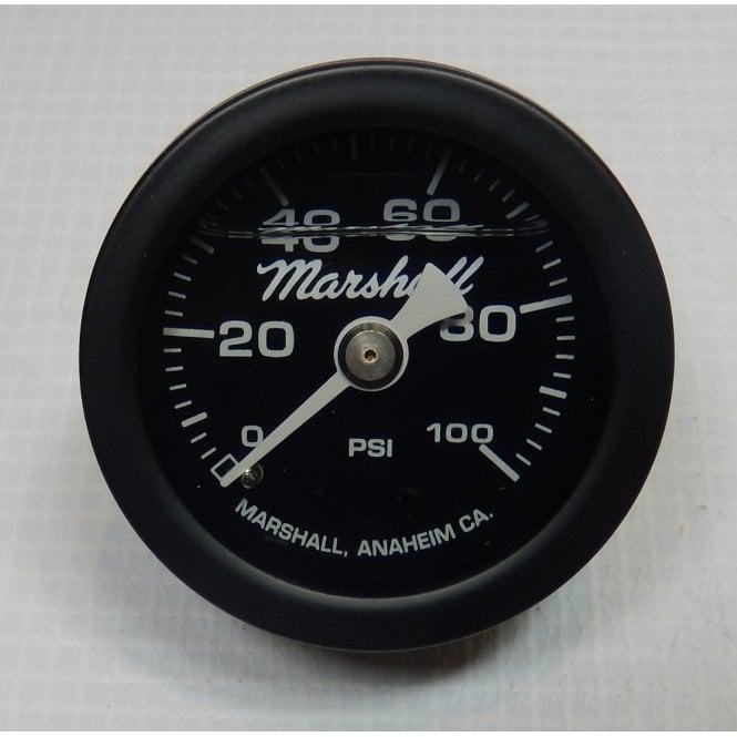 "Oil Pressure Gauge 1.5"" (40mm) Liquid filled Dial Black Body 1/8"" NPT 0-100 PSI"