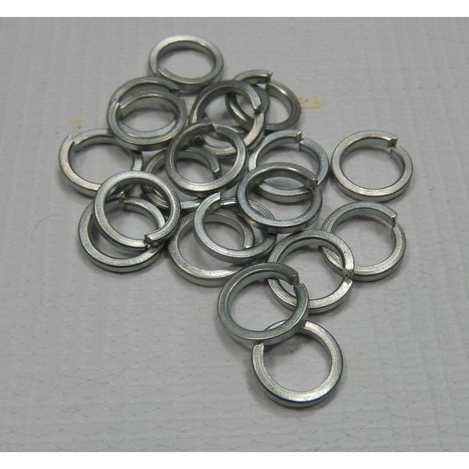 """Pack of 20 3/8"""" BZP Spring Washers Made in UK"""