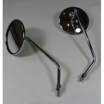 Pair of Chrome Mirrors 8mm Left & Right Hand Threaded
