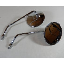 Pair of High Quality Chrome Mirrors 8mm Left & Right Hand Set