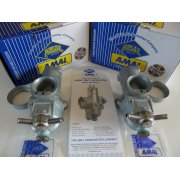 Pair of Standard T140V Carburetter Genuine AMAL 1974 - 1978