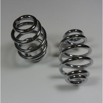 Royal Enfield Chrome Seat Springs Sold as a Pair (Short Length) 3