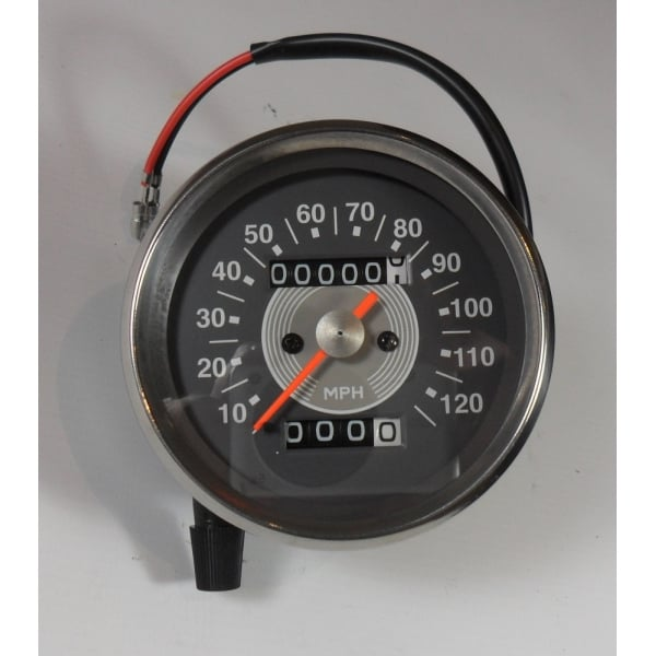 SMITHS INSTRUMENTS Grey Face Speedometer Early Type 0 - 120MPH 2-1 Ratio  Magnetic Drive