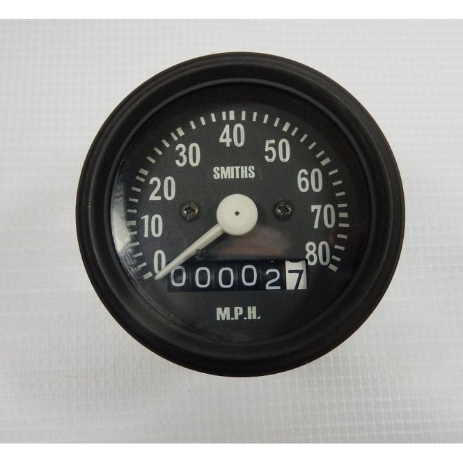 Smiths Instruments BSA Bantam, C15, B40, Ariel Smiths Replica Speedometer 0 - 80MPH With Fixings