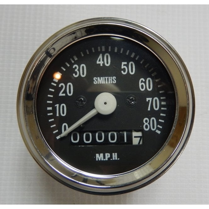 SMITHS INSTRUMENTS BSA Bantam Smiths Replica Speedometer 0 - 80MPH Complete With Fixings