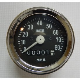 BSA Bantam Smiths Replica Speedometer 0 - 80MPH Complete With Fixings