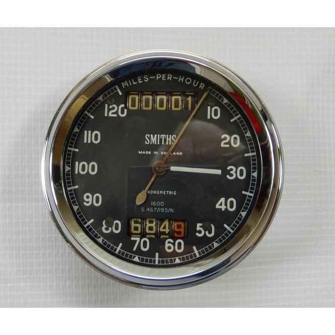 Smiths Instruments Genuine Smith Chronometric Speedometer 0-120MPH No S.467/195/N Refurbished