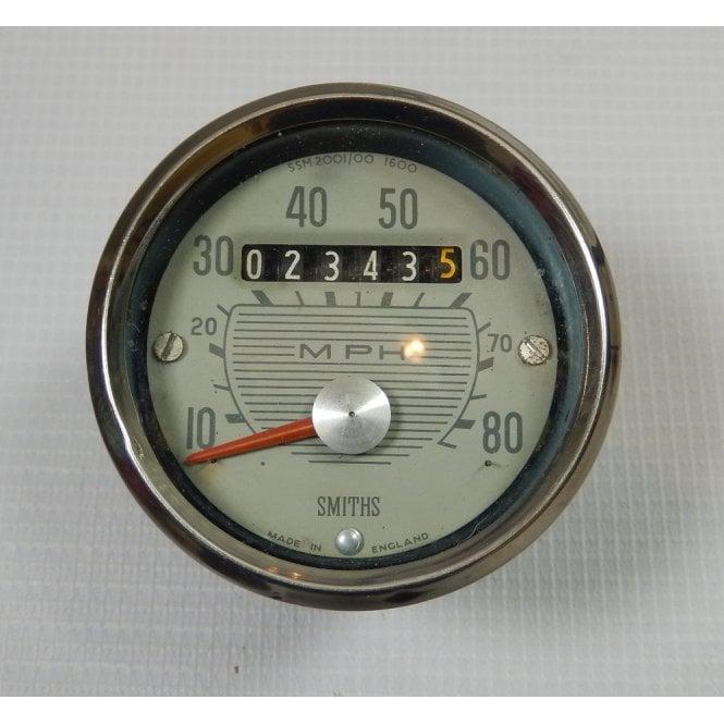 Smiths Instruments Genuine Smiths BSA Bantam Speedometer 0-80MPH Full Working Order SSM2001/00 1600