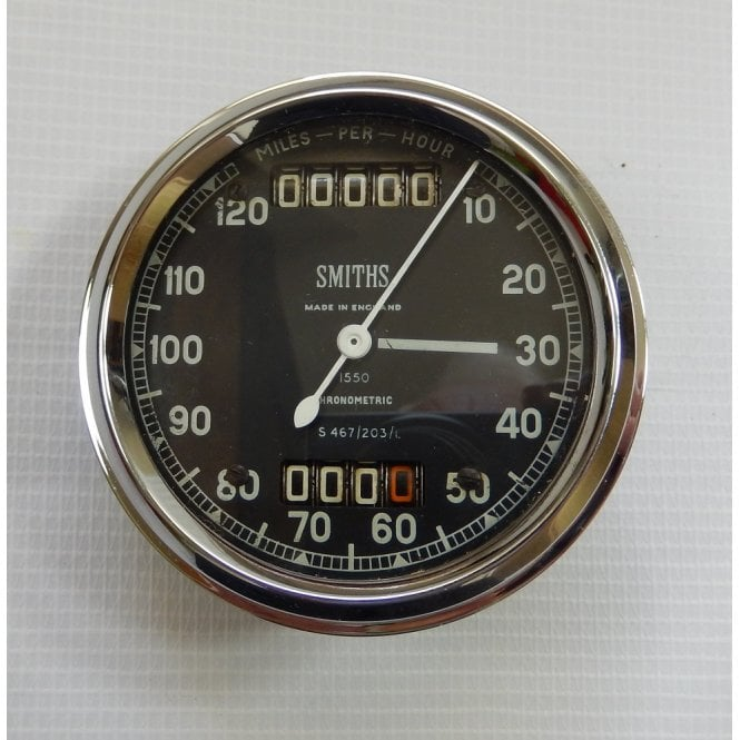 Smiths Instruments Genuine Smiths Chronometric Speedometer 0 - 120mph Fully Re-furbished S.467/203/L