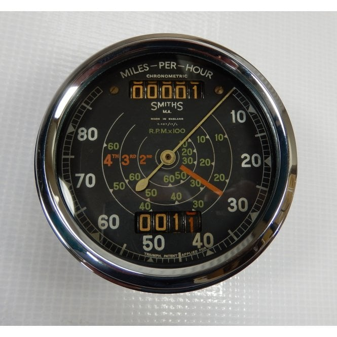 SMITHS INSTRUMENTS Genuine Smiths Chronometric Speedometer Refurbished 0-80 MPH No S.467/17/L