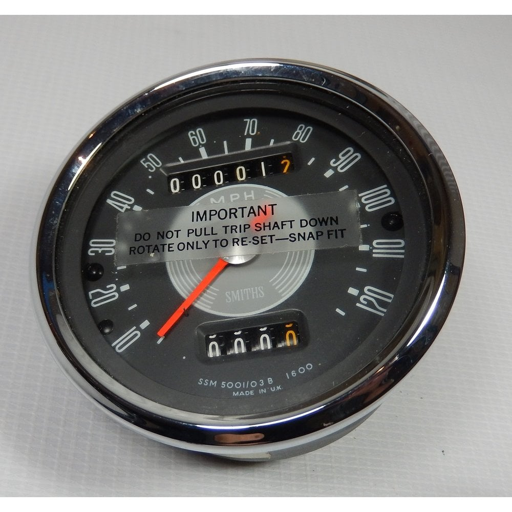 Genuine Smiths Speedometer 0-120 MPH Grey Face New Old Stock