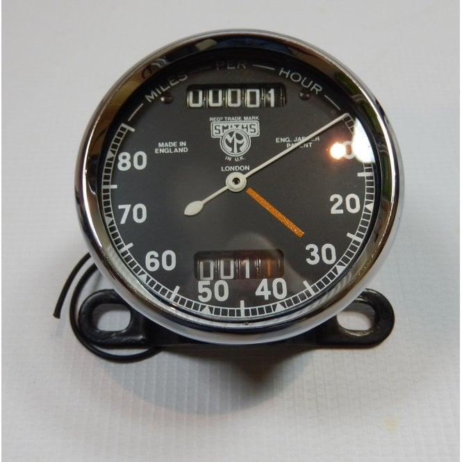Smiths Instruments Genuine Smiths Speedometer 0-80 MPH Pre-War Pin Drive New Glass & Bezel & Face