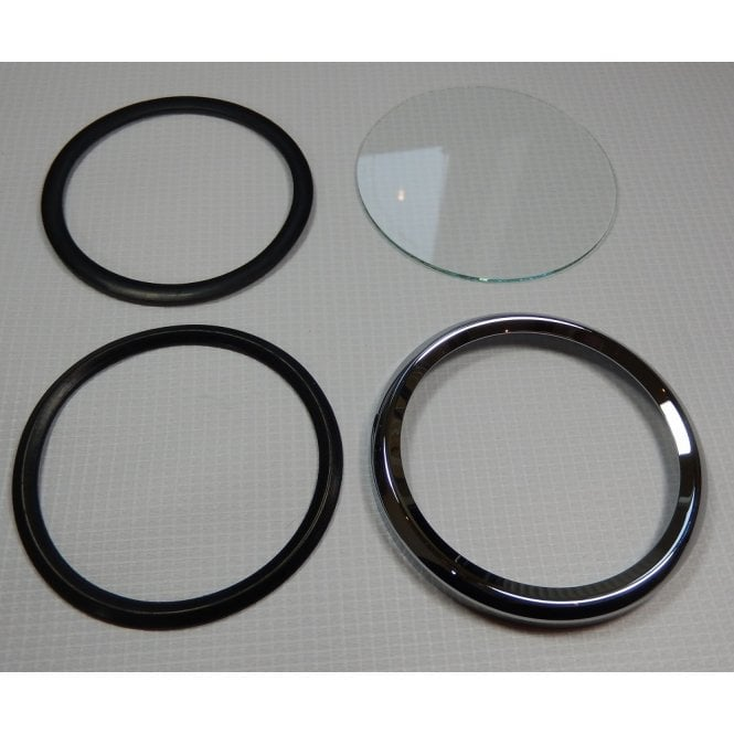 SMITHS INSTRUMENTS Smiths Speedo Bezel Set Complete for Classic Motorcycle Crimp On Type