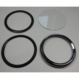 Smiths Speedo Bezel Set Complete for Classic Motorcycle Crimp On Type