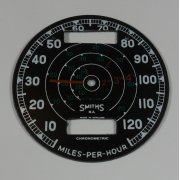 Smiths Speedometer Face 10-MPH - 120MPH Made in England