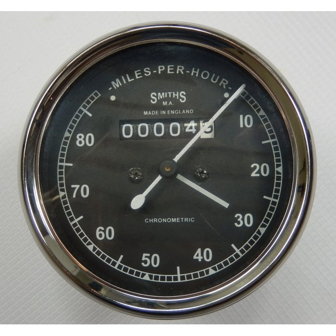 SMITHS INSTRUMENTS Smiths Type Speedometer 0-80 MPH Black Body 2:1 Ratio UK Speedometer Fitting