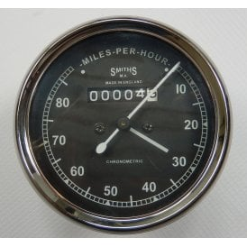 Smiths Type Speedometer 0-80 MPH Black Body 2:1 Ratio UK Speedometer Fitting