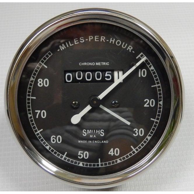 Smiths Instruments Smiths Type Speedometer 0-80 MPH Black Body 2:1 Ratio UK Speedometer Fitting