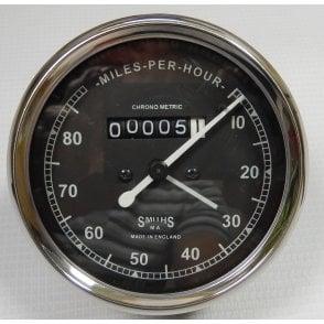 Smiths Type Speedometer 0-80 MPH Black Body 2:1 Ratio UK Speedometer Fitting