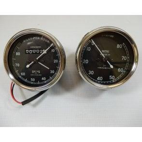Smiths Type Speedometer / Tachometer Matching Set 0-80MPH, O-8,000RPM