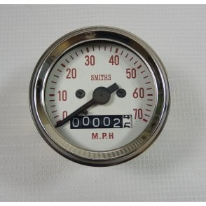 Triumph / BSA Bantam, C15, B40 Smiths Replica Speedometer 0-70MPH Complete With Fixings