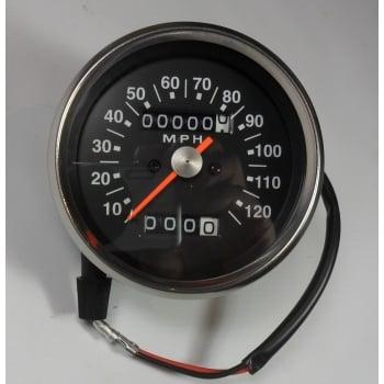 Smiths Instruments Triumph / BSA Speedometer Black Face 2:1 Ratio 0-120MPH Magnetic Drive